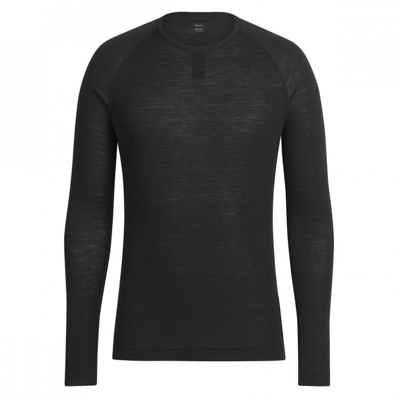 Rapha Merino Base Layer Long Sleeve Underställ Svart