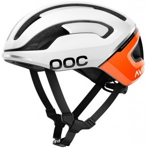 POC Omne Air Spin Cykelhjälm Vit/orange