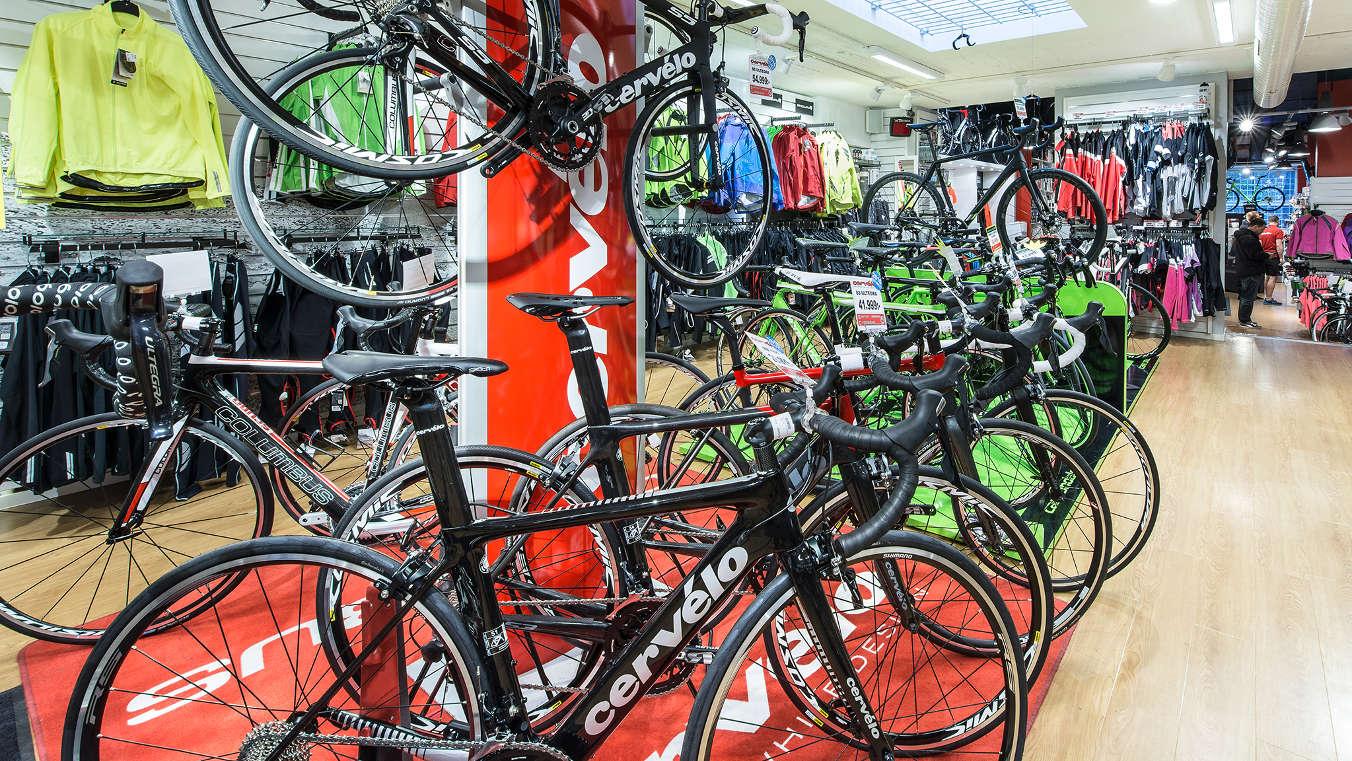 Cervelo-cyklar hos CykelCity Stockholm