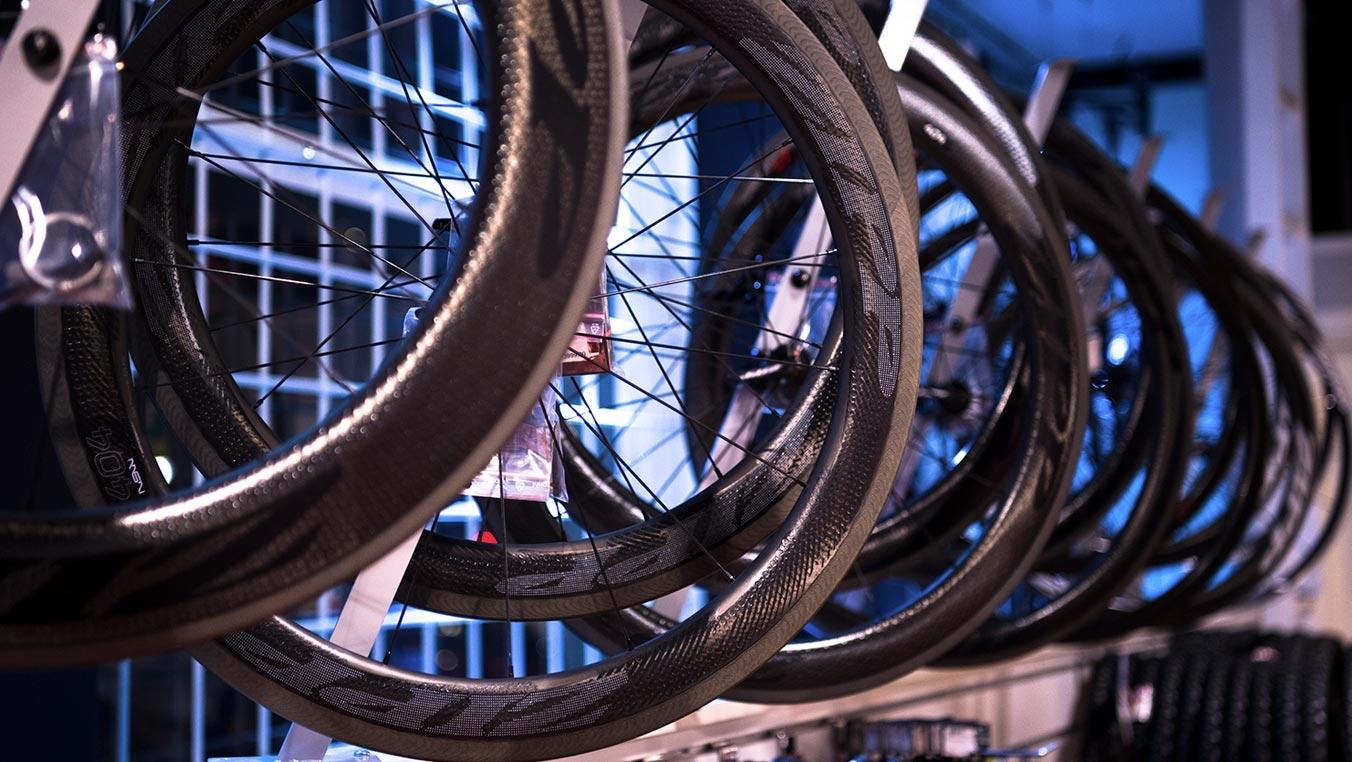 En liten del av alla hjul vi erbjuder på CykelCity